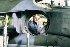 1972_pm_Arfa Hancock in XW630, Sqn Hangar