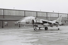 1973_jm_Harrier T2 XW269 TB Taxis past the 4 Sqn Hangar
